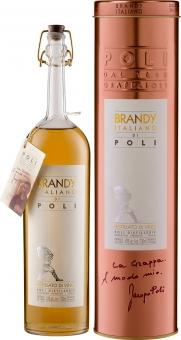 Jacopo Poli Brandy Italiano di Poli - in Geschenkröhre - 0.7 l
